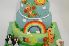 Regenboog verjaardagstaart