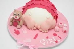 Taart voor babyshower - it's a girl