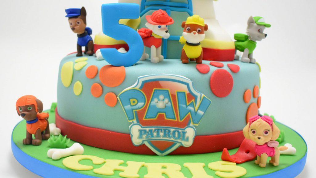 Verjaardagstaart thema Paw Patrol