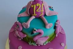 Flamingo verjaardagstaart