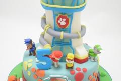 Verjaardagstaart met thema Paw Patrol