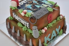 Fortnite taart met foto