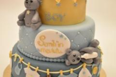 Babyshower taart met kroon