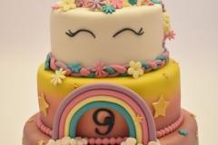 Vrolijke unicorn taart