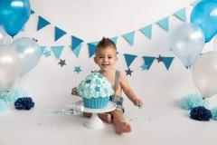 smash cake gaint cupcake blauw