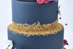 Bruidstaart zwart goud